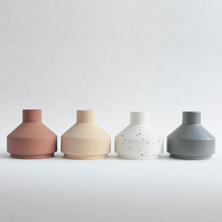 Ania EMMA Vase Light Grey Dots