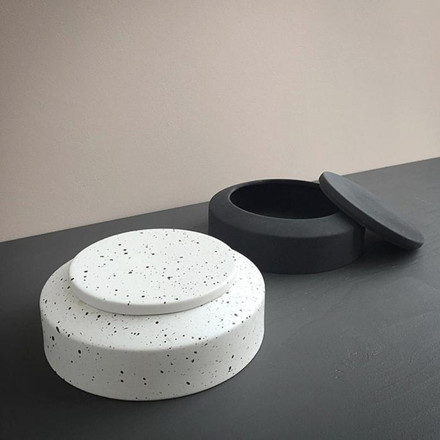 Ania IBSEN Jar With Lid White Dots
