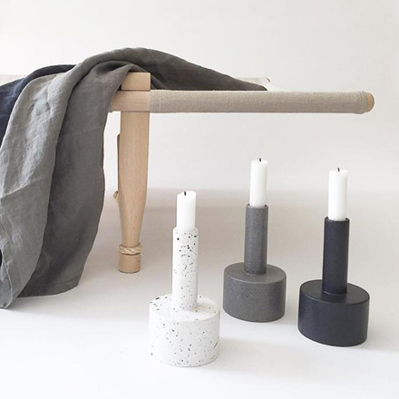 Ania KALLE Candle Holder White Dots