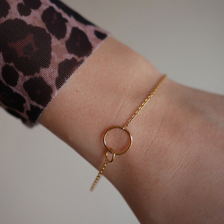 Enamel Copenhagen Double Circle Bracelet Gold-Plated