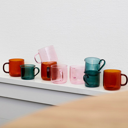 HAY Borosilicate Mug Pink