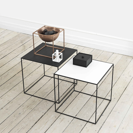 By Lassen Twin Table 42 Hvid/Eg