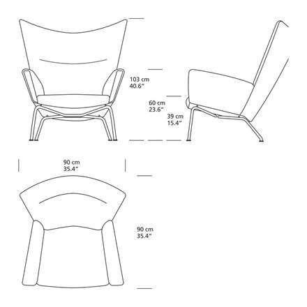 Carl Hansen CH445 Wing Chair Lænestol