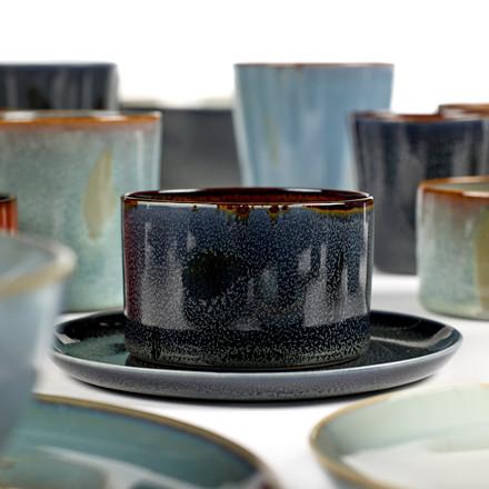 Serax Goblet Cylinder Low Dark Blue/Rust