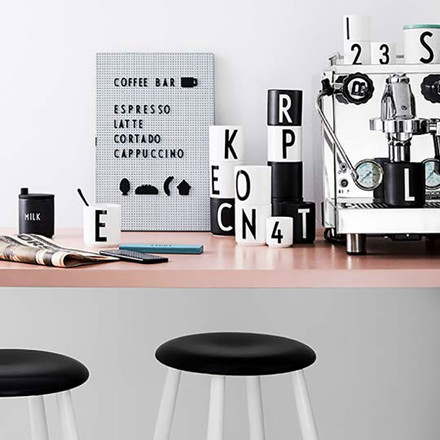 Design Letters Food Icons For Message Board Black