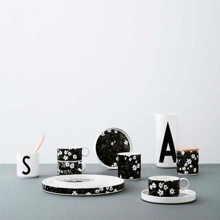 Design Letters AJ Vintage Flowers Porcelain Tea Cup