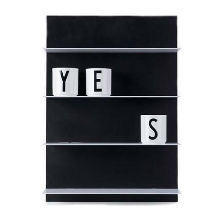 Design Letters Paper Shelf Black