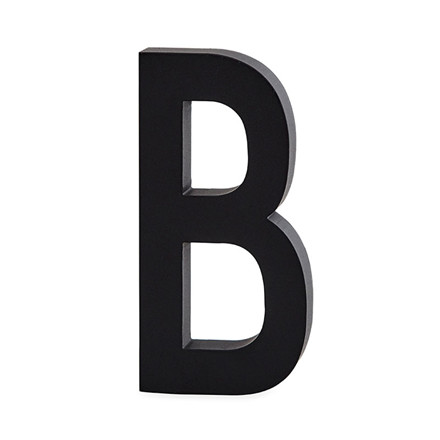 Design Letters Bogstaver Aluminium 50 mm Sort