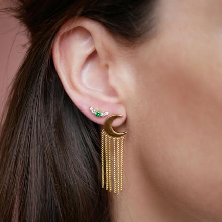Enamel Copenhagen Midnight Earrings Gold-Plated