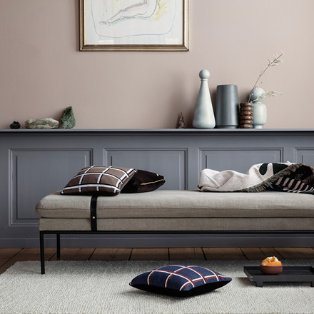 Ferm Living Salon Cushion Checked Taupe