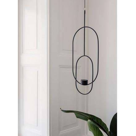 Ferm Living Hanging Tealight Deco Oval Black