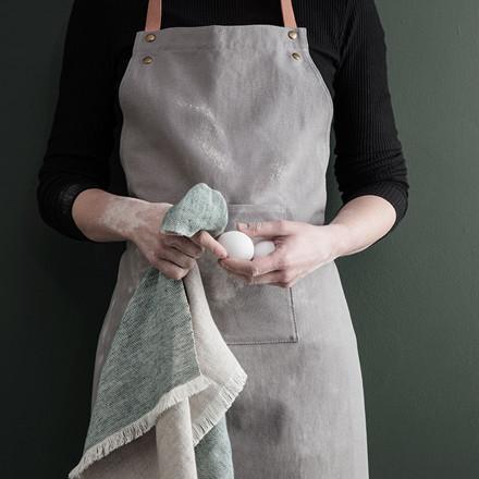 Ferm Living Blend Kitchen Towel Green