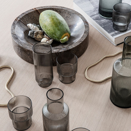 Ferm Living Ripple Long Drink Smoked Grey