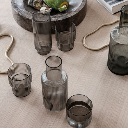 Ferm Living Ripple Glas Smoked Grey
