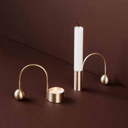 Ferm Living Balance Tealight Holder Brass