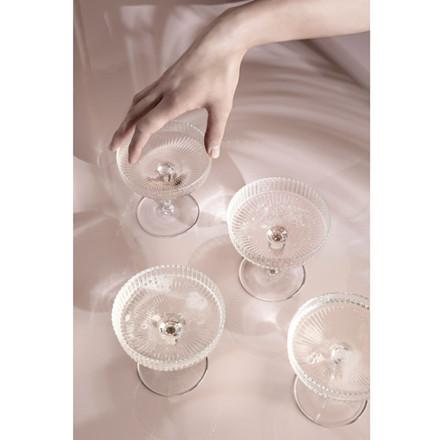 Ferm Living Ripple Champagne Glas