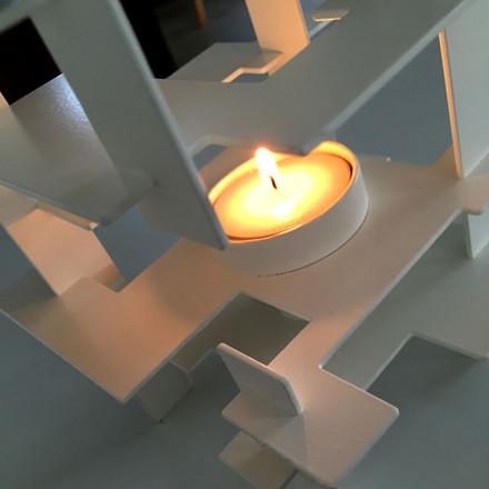 Gejst Construction Lysestage Hvid