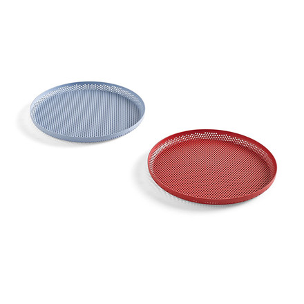 Hay Perforated Tray M Light Blue