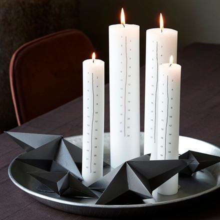 House Doctor Calendar Candle Black Large
