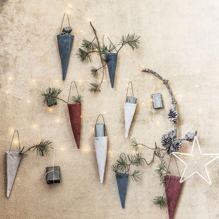 House Doctor Corne Ornaments Sand H 19 cm