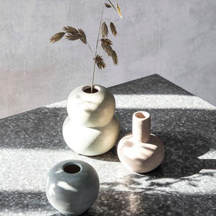 House Doctor Mini Bobbles Vase Light Grey/Sand