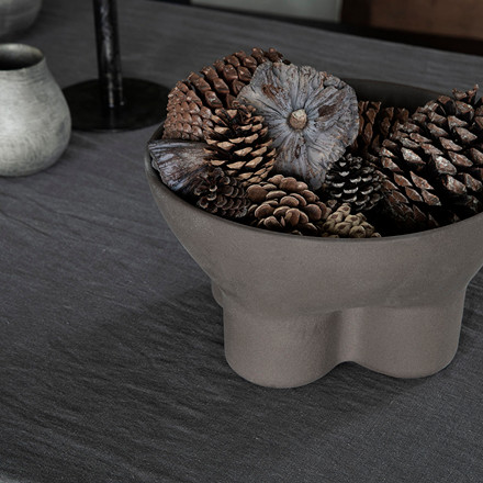 House Doctor Stand Bowl Brown