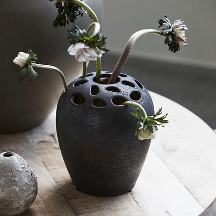 House Doctor Varios Vase Black Stain