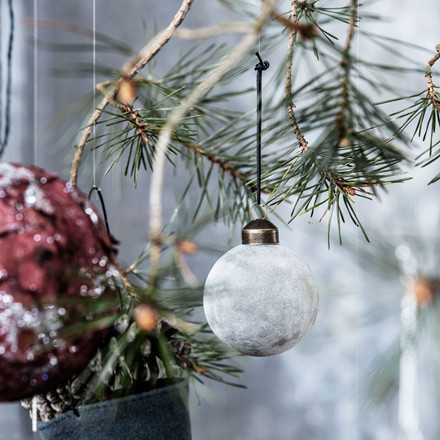 House Doctor Flock Ornament Grey Ø 5,5 cm