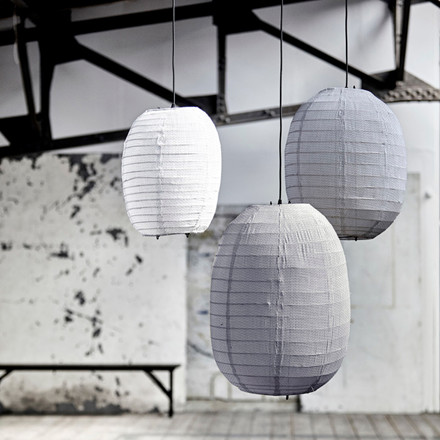 House Doctor Stitch Lampshade Light Grey H 50 cm