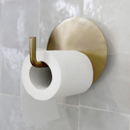 House Doctor Text Toiletpapirholder Messing