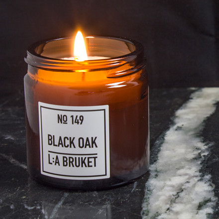 L:A Bruket Scented Candle Black Oak