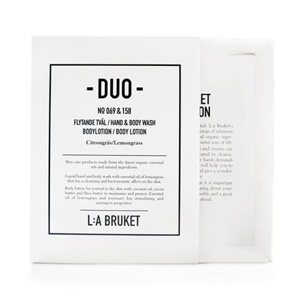 L:A Bruket Duo Kit 1 Soap & Bodylotion Lemongrass