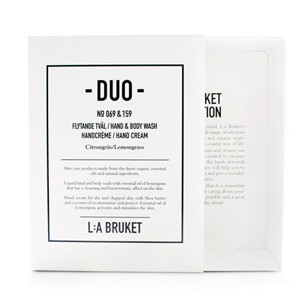 L:A Bruket Duo Kit Soap & Handcreme Lemongrass