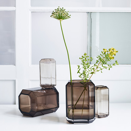 Louise Roe Jewel Vase Smoke