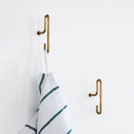 Moebe Wall Hook Small Brass 2-pak
