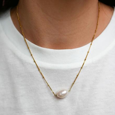 Enamel Copenhagen Coco Baroque Necklace Gold-Plated