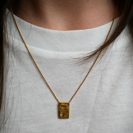 Enamel Copenhagen I Love You Necklace Gold-Plated