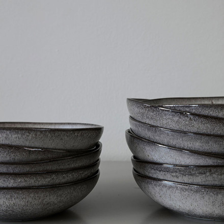 Nicolas Vahé Earth Soup Plate/Bowl Grey