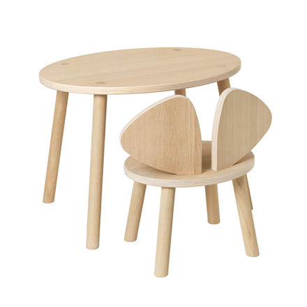 Nofred Mouse Table 2-5 Years Oak