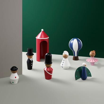 Normann Cph Tivoli Tale Figurines Harlequin Small White