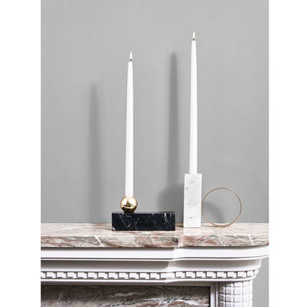 OYOY Tangent Candleholder Low Black