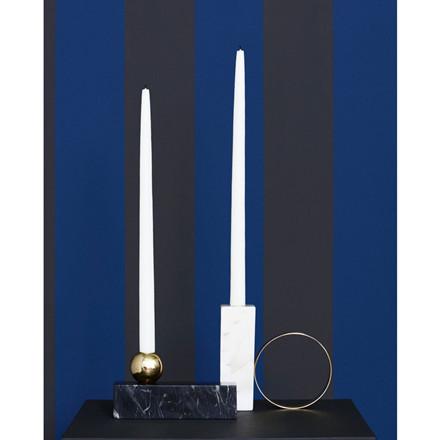 OYOY Tangent Candleholder High White
