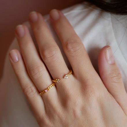 Enamel Copenhagen Lovely Ring Gold-Plated