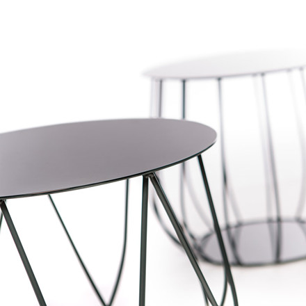 Skargaarden Resö Lounge Table Straight Bars Charcoal Grey