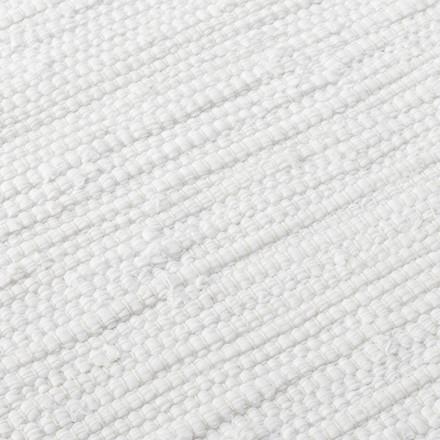 Rug Solid White Bomuldstæppe