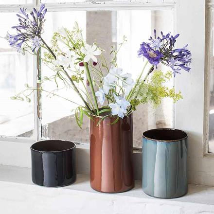 Serax Anita Cylinder Vase Dark Blue