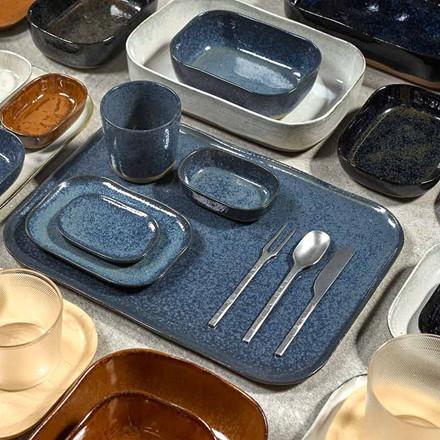 Serax Merci Rectangular Plate No. 1 XL Blue/Grey