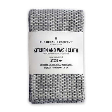 The Organic Company Kitchen and Wash Cloth Light Grey