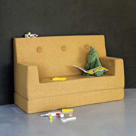 By KlipKlap Kids Sofa Mustard W. Mustard