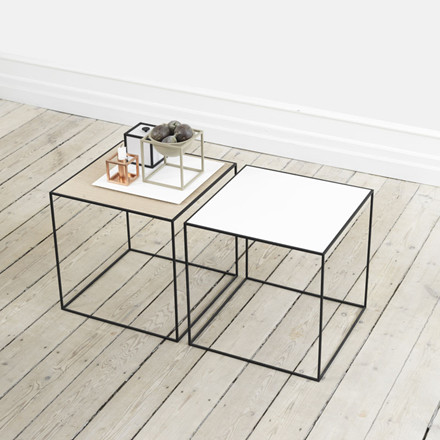 By Lassen Twin Table 35 Hvid/Eg